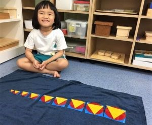 Special needs child learner using kinesthetic imprint of lines and space to overcome visual spatial problems