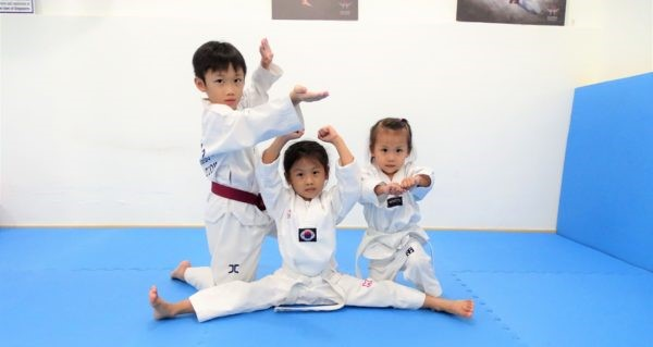 Children in Taekwando positions at ACME Sabertooth