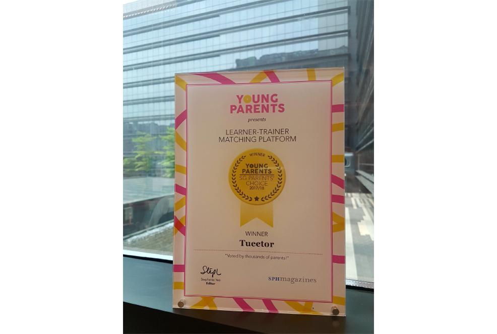 Tueetor Winner Of The SG Parents Choice Award 2017-2018